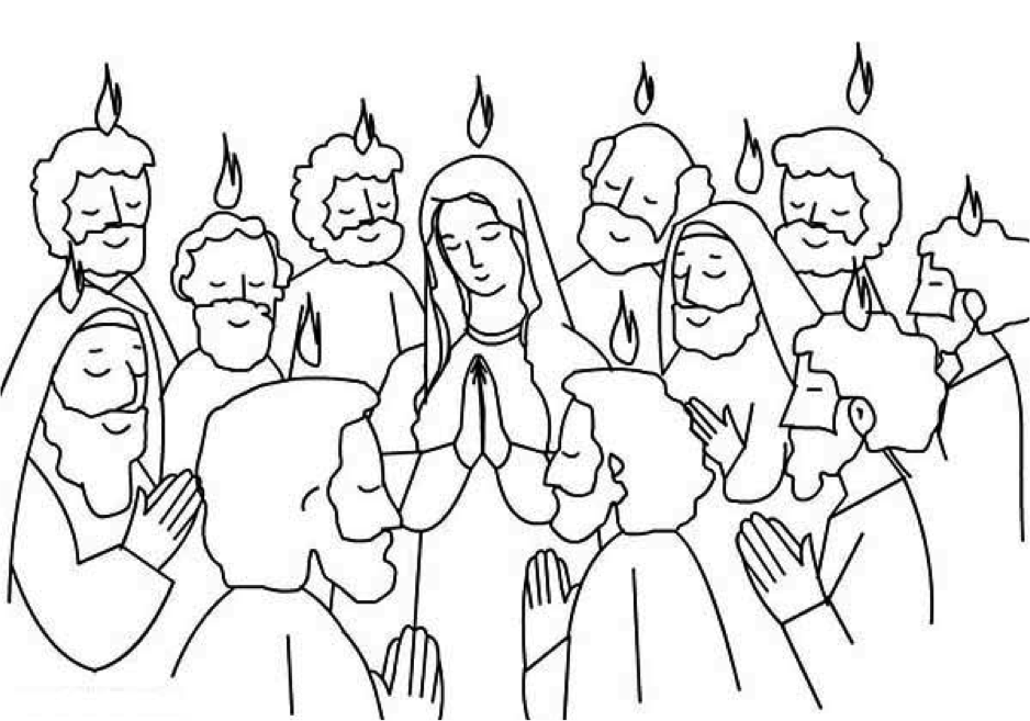The gifts of holy spirit sunday school coloring pages for Pentecost coloring pages