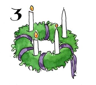 kinderwoorddienst adventsliedje een groene krans vier
