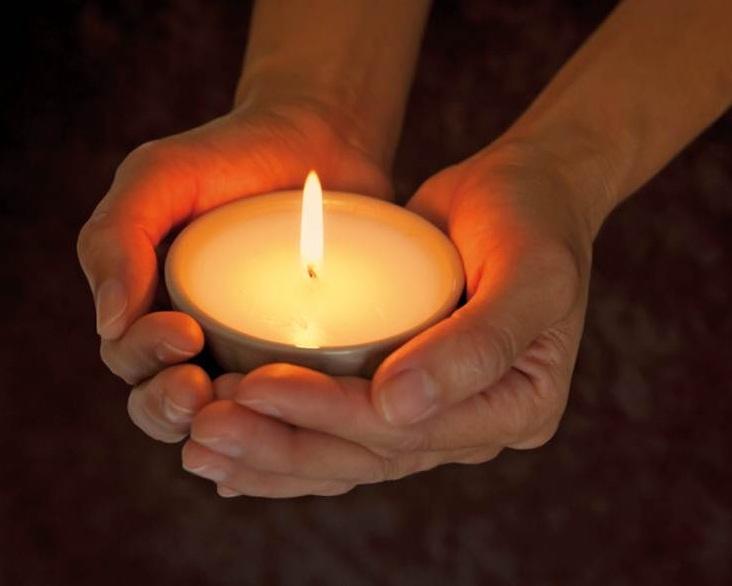 bidden lichtje
