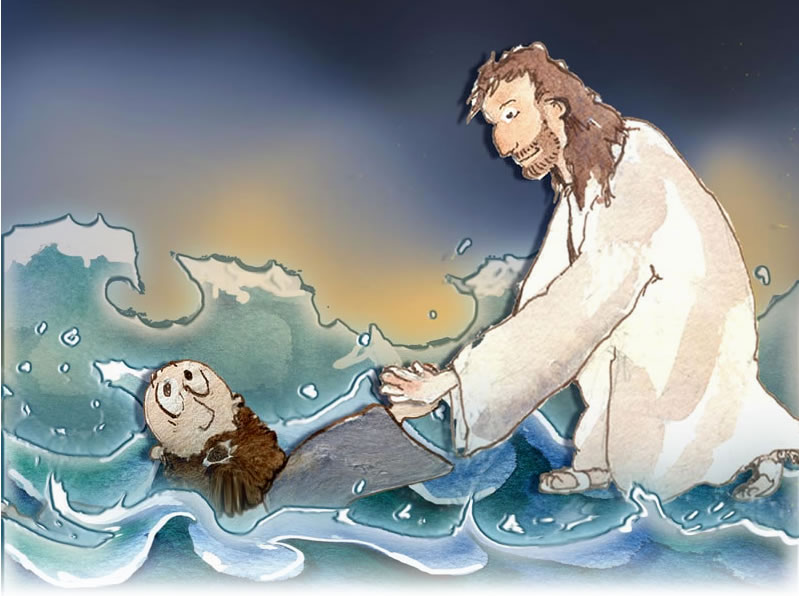 jesus rescues peter