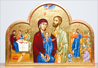 icon of the holy family of nazareth photograph