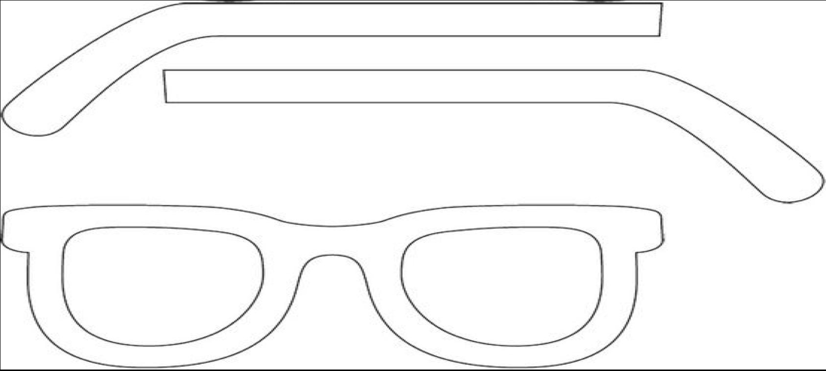 kleurplaten zonnebril